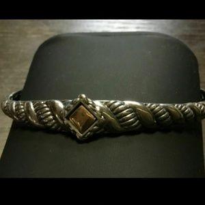 John Hardy Jai 14k Gold Sterling Bali Bracelet